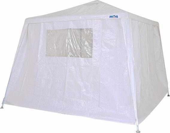 Tenda Praia Gazebo Branca Mor Camping + Conj Parede 4 Lados