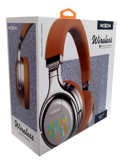 Audifonos Moxom Inalambricos Bluetooh + Micro Sd