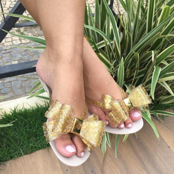 Sandália Chinelo Feminina Rasteirinha Laço Várias Cores Super Barato