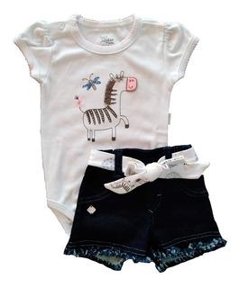 Conjunto Verão Para Bebês Zebrinha (3 Peças)