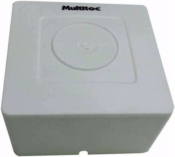 Caixa Sobrepor Quadrada 85x85x45 Branca Cftv Multitoc Com 10