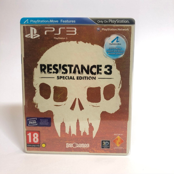 Resistance 3 Special Edition Ps3 Raro Midia Fisica