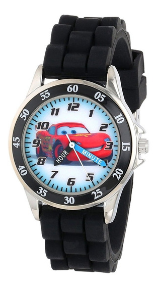 Reloj Analógico Plateada Con Negro Cars Lightning Mcqueen