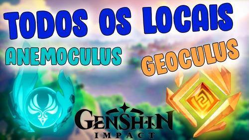 Todos Os Anemoculus E Geoculus Ps4