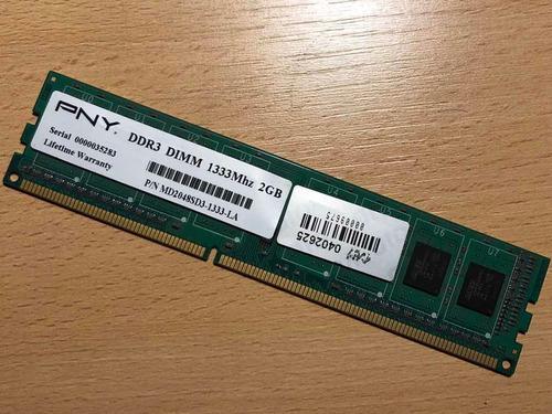 Memoria Ddr3 Pny Dimm 1333 Mhz 2gb