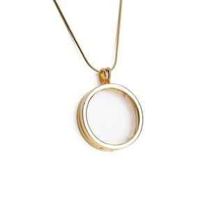 Colar Capsula Vidro P/ Mini Pingentes Folheado Ouro 50 Cm
