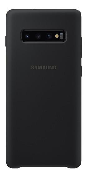 Capa Protetora Samsung Galaxy S10+ Silicone Preto