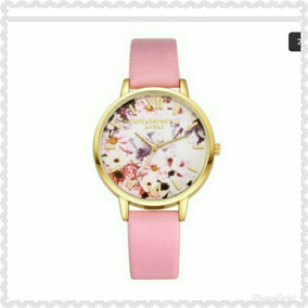 Relógio Feminino Floral. Resistente A Água.