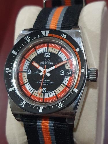 Imagen 1 de 6 de Reloj Tipo Diver Buler Monza Vintage