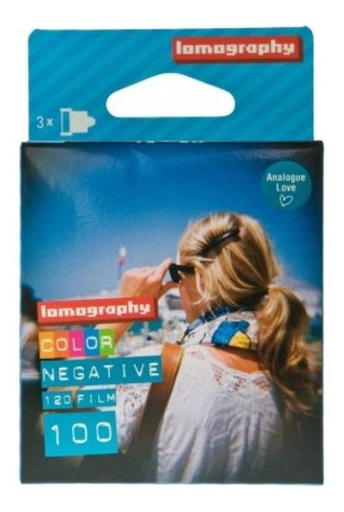 3 Rolos De Filme 120 Lomography Color Negative Iso 100