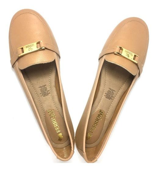 Zapato De Piso Dama Ferrioni Color Oro Balerina J34-007-03