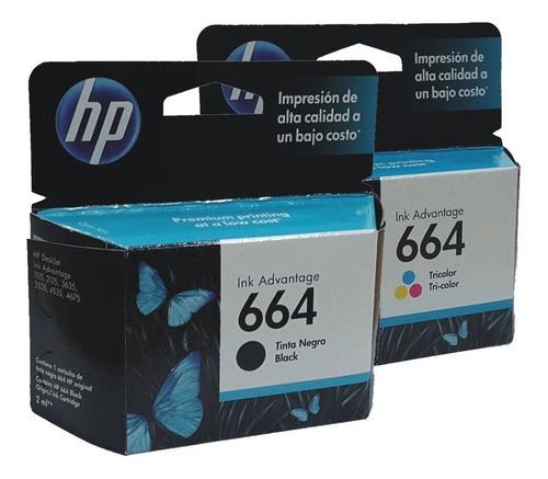 Cartucho Hp 664 Combo Negro Y Color 1115 2135 3635 Original