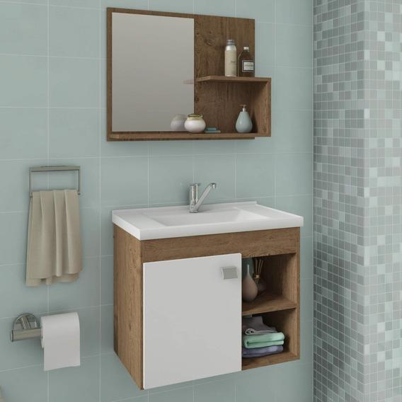 Gabinete De Banheiro Cuba E Espelheira 1 Porta 2 Gawt