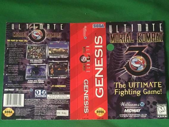 Ultimate Mortal Komba 3-caixa Recortada Mega Drive Genesis