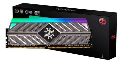 Imagem 1 de 3 de Memoria 8gb Ddr4 3200 Rgb Xpg Spectrix D41 Tungsten