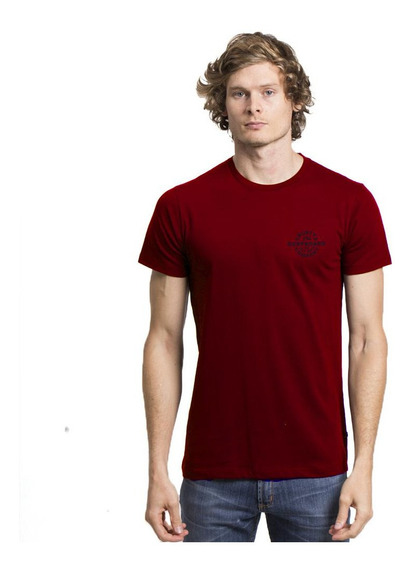 Remera Rusty Scaled Up Mc Rojo Hombre