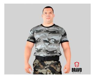Camiseta Masculina Camuflada Urbano - Bravo