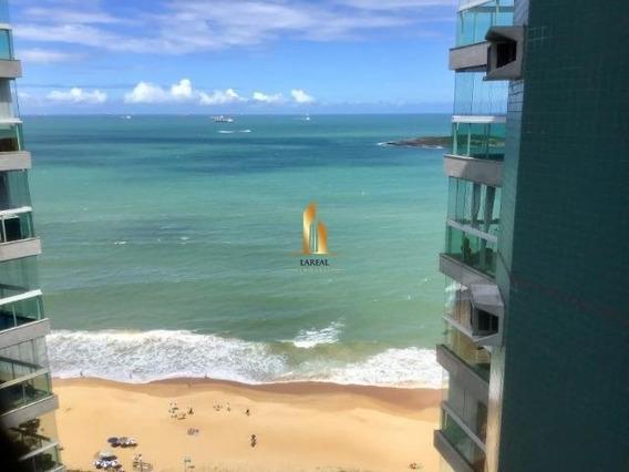 Apartamento 04 Quartos Frente Mar Praia De Itaparica. - 19527