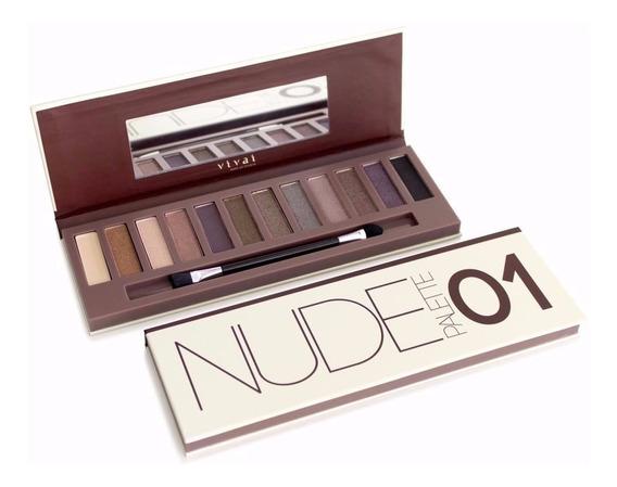 Make Up Maquiagem Nude 01 Vivai Paleta Sombra Matte N A@