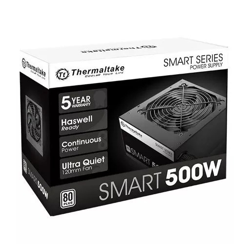 Fonte Thermaltake 500w Smart 80 Plus White + Pfc Ativo + Nfe