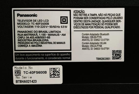 Smart Tv Panasonic 40 Comprada Em Janeiro (tela Quebrada)