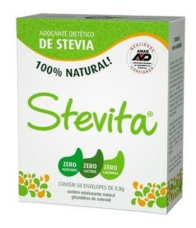 Kit 22 Stevita Adoçante De Stévia Em Pó Caixa 50 Envelopes