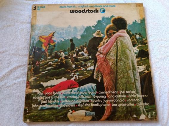Woodstock Lp Nacional Completo 3 Discos