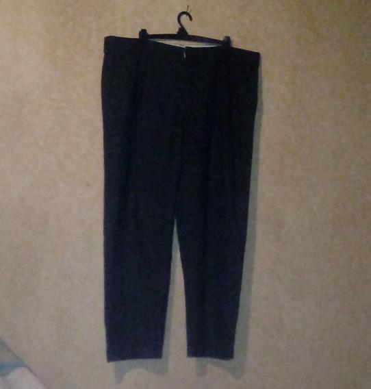 Pantalon De Franela Gris Oscuro Vestir Talle 56 Impecable