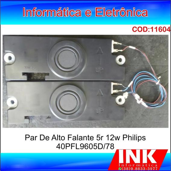 Alto Falantes Par Tv Philips 40pfl9605d/78 Original