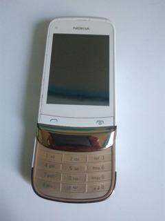 Celular Nokia C2-02, Color Blanco, Refacciones.
