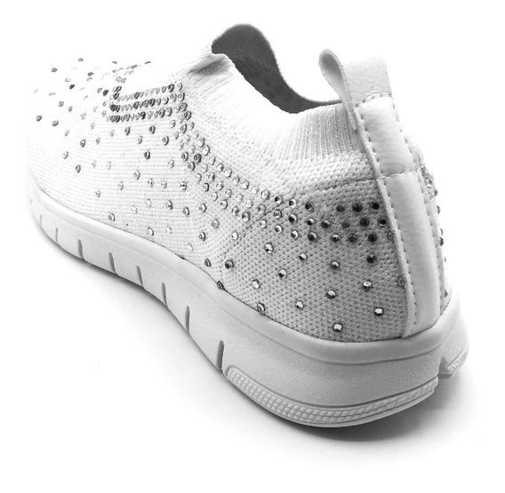 Zapatillas Mujer Sneakers Tela Negra Gris Blanca Elastizadas