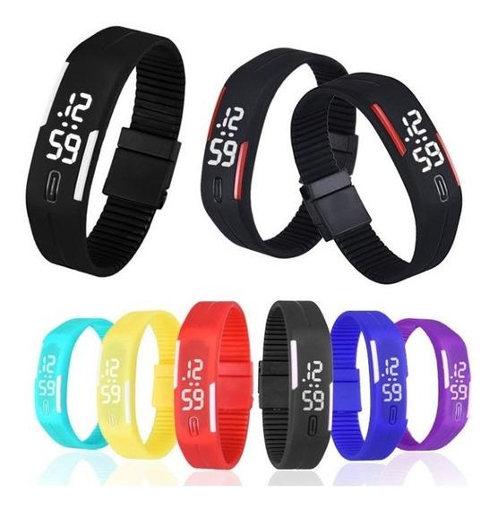 Kit 20 Relógio Led Digital Sport Bracelete Pulseira Silicone