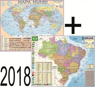 Mapa Mundi Ou Brasil Escolar Gigante Feito Em Papél Laminado