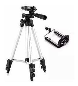 Tripé Para Câmera 1,20mt +suporte Para Celular + Bolsa Trans