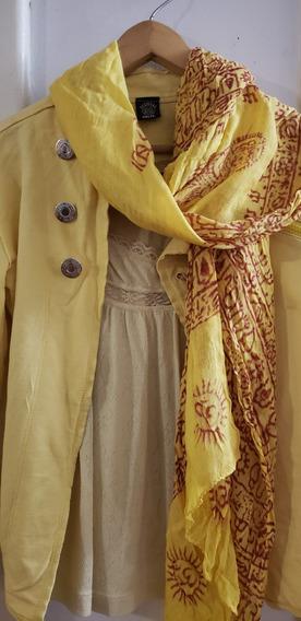 Campera De Algodón Amarilla Desigual Impecable