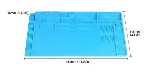 Silicone Isolamento Térmico De Mesa Pad Estação De Solda Man