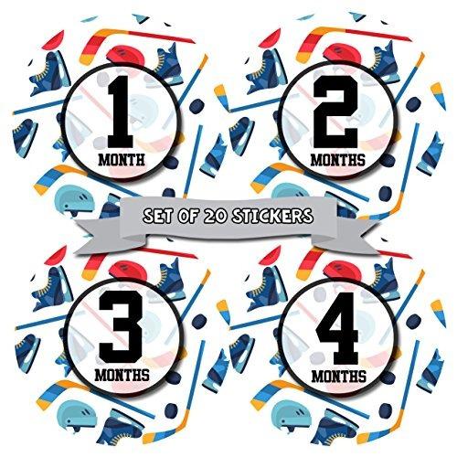 Juego de 20 7/Bonus logro pegatinas / Beb/é Mensual hito pegatinas /nacimiento a 12/meses