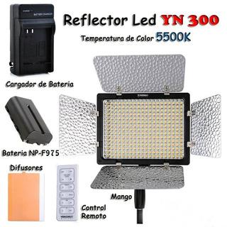 Iluminador Yn 300 + Batería Sony Np-975 + Cargador