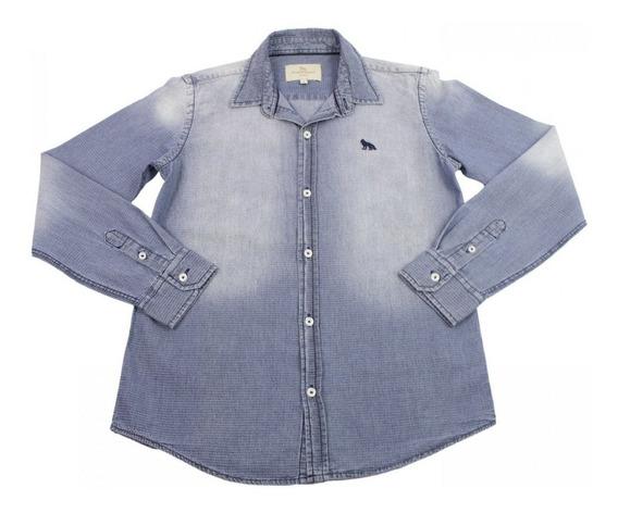 Camisa Infantil Masculina Acostamento Manga Longa 68401037
