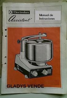 Manual Con Instrucciones De Uso Asistente Cocina Electrolux