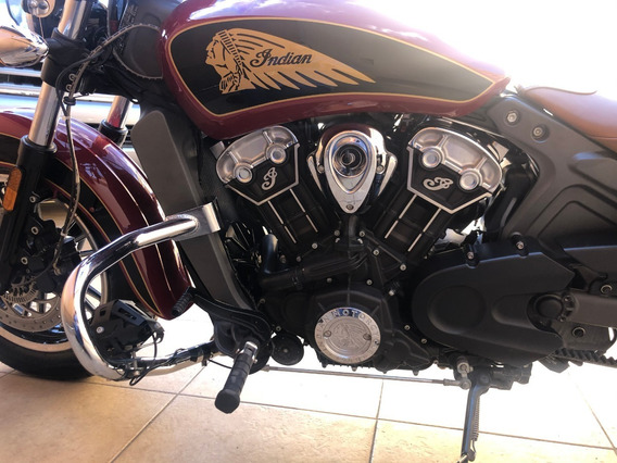 Indian Scout 2017 Negra-roja 1200cc