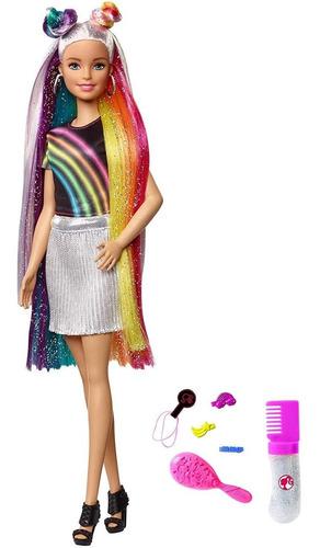 Barbie Peinados De Arcoiris Nueva Y Original De Mattel