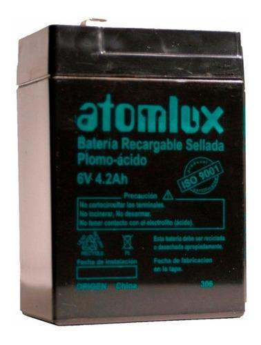Bateria P/ Luces Emergencia Atomlux 2020 2028 2045  6v 4,2ah