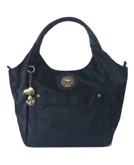 Bolsa Feminina Tote Bag Snoopy Sp6803 Coleção Be Fancy Preto