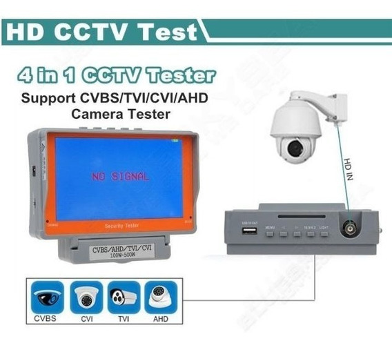 Monitor 5.0 Tester Testador Câmera 4x1 Cvbs/ Ahd/ Tvi / Cvi!