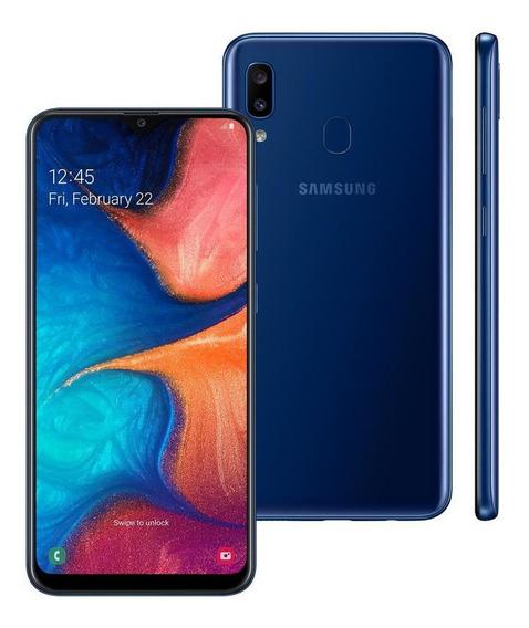 Celular Samsung Galaxy A20 Duos Tela 6.4 32g Azul