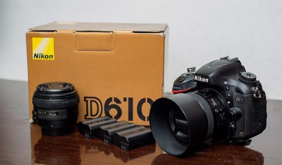 Nikon D610 Full Frame + Lente 35mm 2.0 + Lente 50mm 1.4