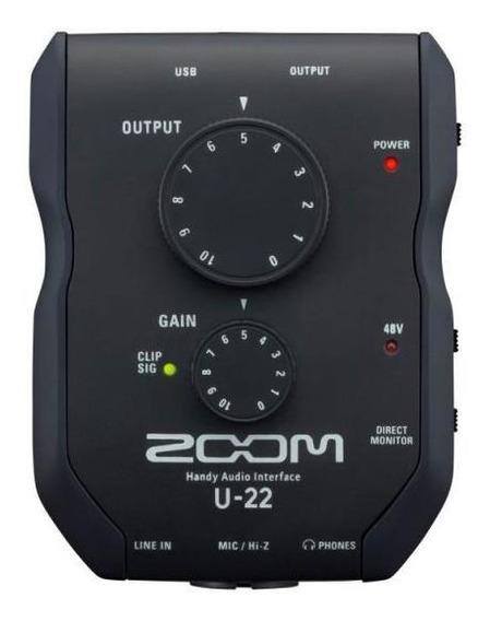Interface De Áudio Zoom U-22 - Portátil, Usb