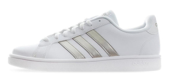 Tenis adidas Grand Court Base - Ee7874 - Blanco - Mujer