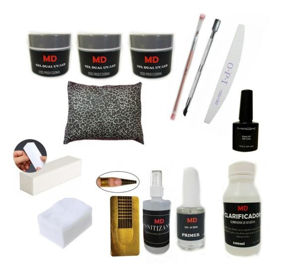 Kit Completo De Uñas Gelificadas + Almohada
